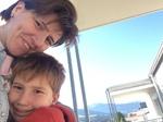 bei Oma und Opa auf dem Balkon
